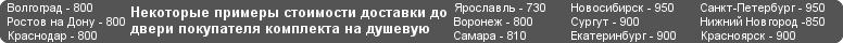 Фурнитура для душевых кабин - Доставка по России